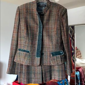 Tweed two piece suit set